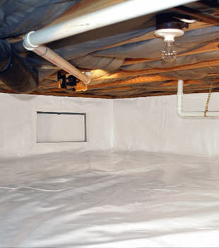 A complete crawl space repair system in Brockville