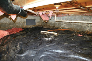 Crawl Space Repair Before in Ottawa