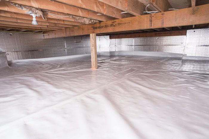 The Cleanspace Crawl Space Vapor Amp Moisture Barrier System