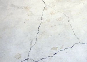 cracks in a slab floor consistent with slab heave in Manotick.
