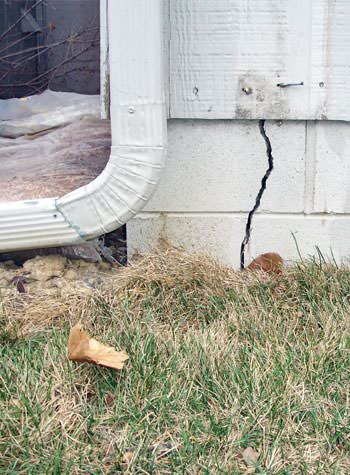 foundation wall cracks due to street creep in Carlsbad Springs