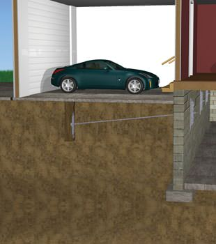 Graphic depiction of a street creep repair in a Edwards home