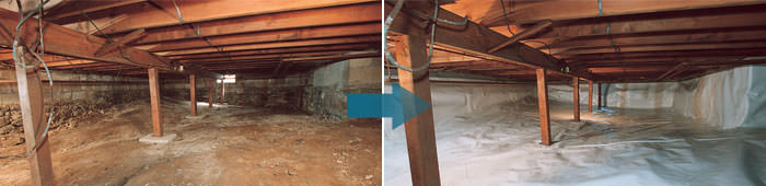 Crawl Space Repair in ON, including Gloucester, Orleans & Ottawa.