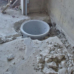 Placing a sump pit in a Greely home