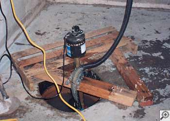 A Rockcliffe sump pump system that failed and lead to a basement flood.