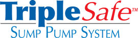 Sump pump system logo for our TripleSafe™, available in areas like Bourget