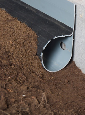 crawl space drain system installed in Morewood