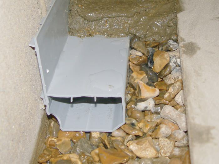 some drainage systems are installed with a 1 gap at the edge of the