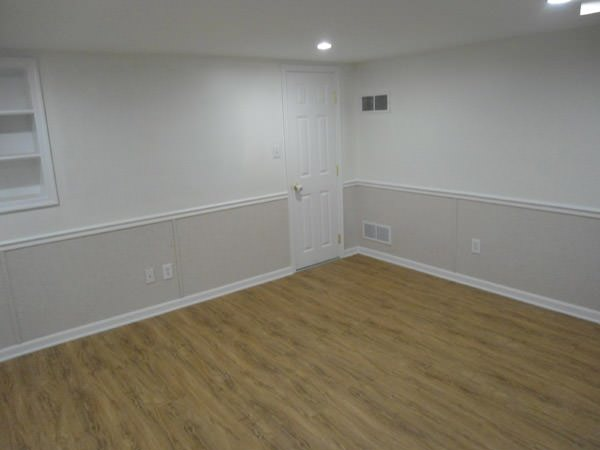 a bright white washable basement wall covering that does not adhere to the walls and resists mold & rot for Elizabethtown homeowners